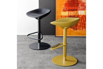 Palm Gas Lift Swivel Stool - Mustard