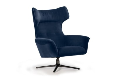 Moro Swivel Chair : Blue Velvet