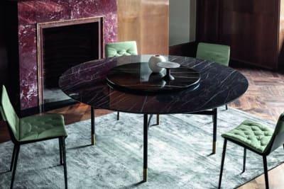 Glamour Table 150cmD: Noir Desir/Black