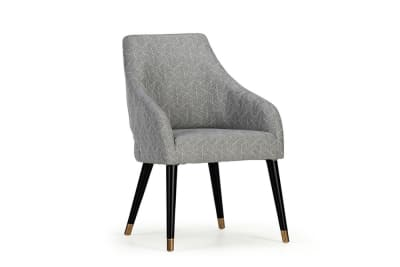 Adele Dining Chair Grey/White Geometric