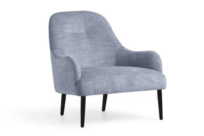 Else Armchair: Garda Denim (8)/Black