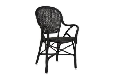 Cafe Dining Chair - Matt Black