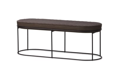 Atollo Bench Ottoman: Black/ Vintage Ebony