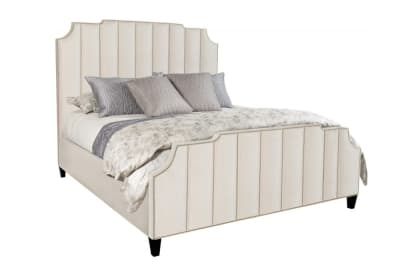 Bayonne KS Bed: Cream