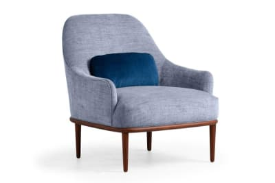 Hasse Chair: Garda Denim/Juke Petrol/Blk