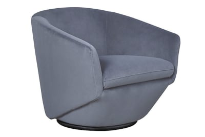 Bauhaus Armchair: Dove Grey Velvet