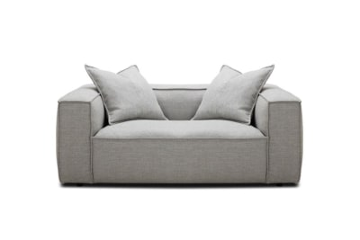 Basso 2 Seater Sofa in Pale Grey Weave