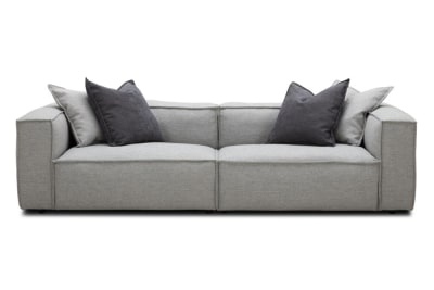 Basso 4 Seater in Pale Grey Weave