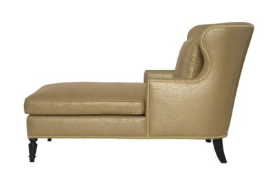 Nadine Chaise in Gold Linen