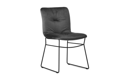 Annie Soft Chair Black Sled/ Ash Grey