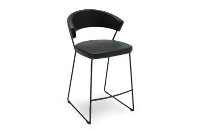New york stool 2.jpg New York stool_ By Calligaris_ sled base option_ Black Base_ Leather upholstered seat New york stool 2.jpg