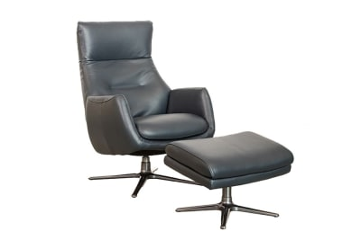 Duke Recliner & Otto: Slate Leather