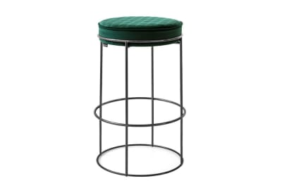 Atollo Stool 65cm: Blk Nickel/ Forest Green