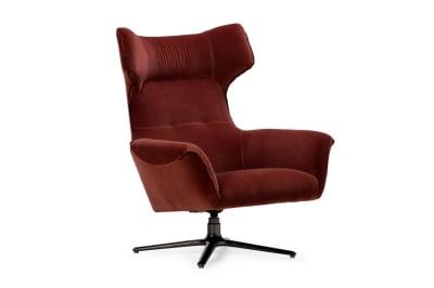 Moro Swivel Chair: Rust Velvet