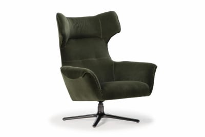 Moro Swivel Chair : Dark Green Velvet
