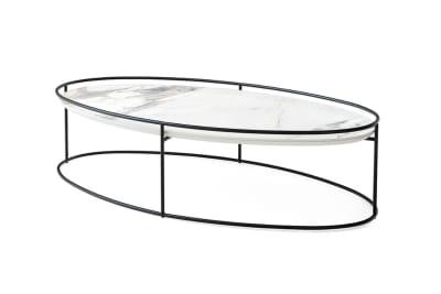 atollo cs5098 cl 5 b.jpg Atollo Coffee table large white marble top black base atollo cs5098 cl 5 b.jpg