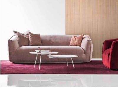 Sweet Sweet Sofa   Calligaris CCS3383 Setting Shot Blush Pink Colour  Sweet Sofa - Calligaris CS/3383 Enrico Cesana  Sweet Sofa - Calligaris CS/3383 Enrico Cesana European made Italian design