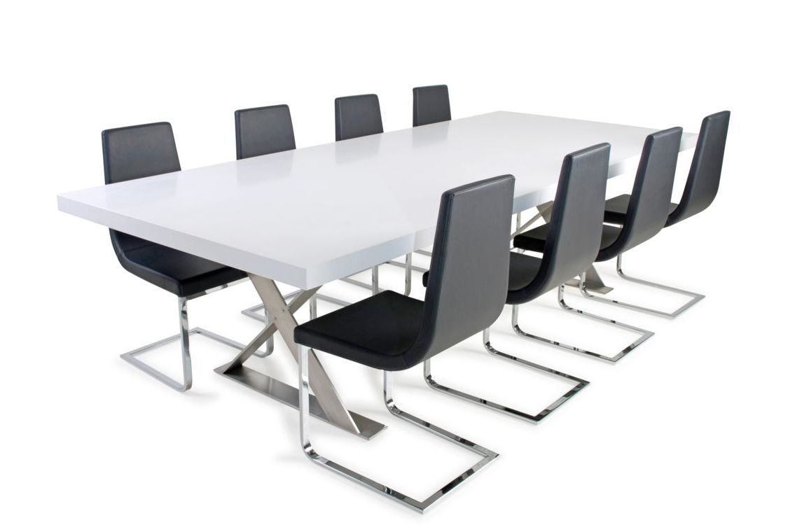 Boardroom Stone Table 280x120cm Boardroom Caesarstone Table With  Stainless Steel Cross