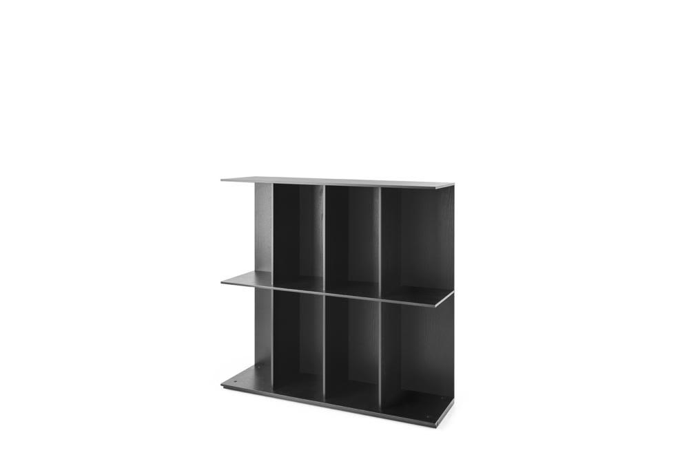 Division Low Division cs6041 B2 P15L  Division Shelving - New options SEP 2017 - Black Wood Finish - Calligaris  cs6041 Calligaris Division - Wall Shelving - Storage Black Wood Oak