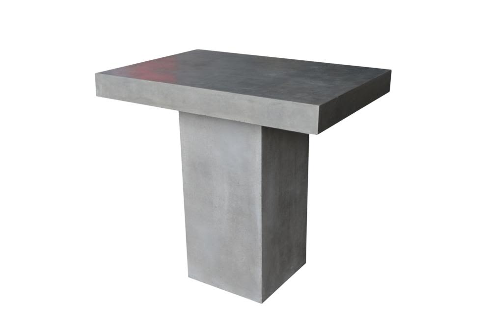 Raphael bar table sml (TAB283)  Raphael Outdoor Dining Collection - Papaya  Papaya Raphael Outdoor Concrete Steel Black