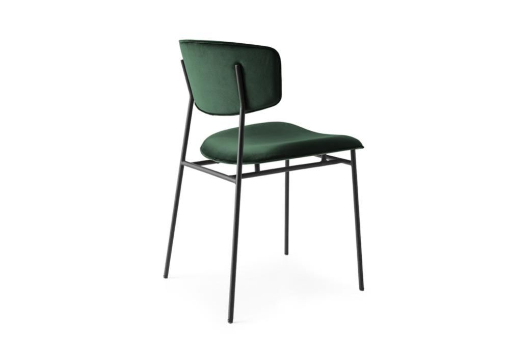 Fifties cs1854 Green Velvet Black Frame  Fifties Chairs - Calligaris  Fifties Chairs - Mid-century midcentury Calligaris Velvet Leather