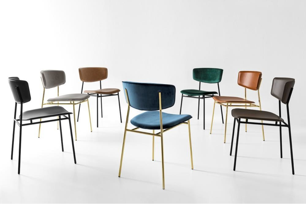 Fifties_Fam_02.jpg  Fifties Chair - Calligaris CS/1854 Metal Dining Chair  Fifties_Fam_02.jpg Fifties Chair - Calligaris CS/1854 Metal Dining Chair Velvet Leather Brass Polished