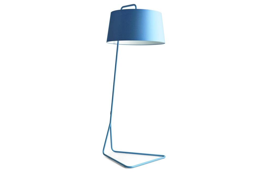 sextans floor lamp blue  Calligaris cream stools, Sextans lamp
