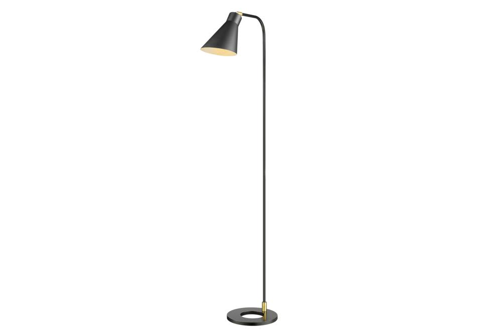 Amalfi Floor Lamp   Black w Brass W37L  Bloomingdales lamps and furniture  Bloomingdales Lamps Table Floor Desk Lamps