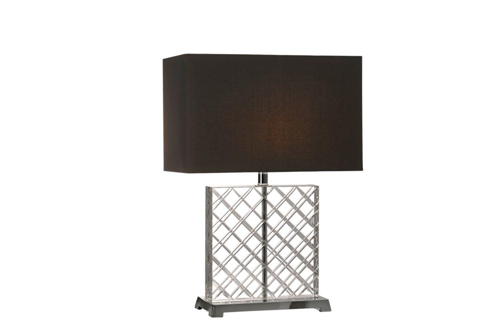 Criss Cross Crystal lamp   Black Shade  Bloomingdales lamps and furniture  Bloomingdales Lamps Table Floor Desk Lamps