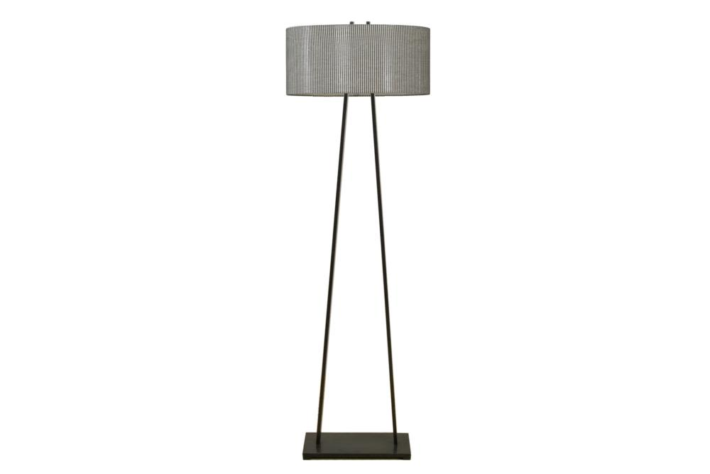 Detroit Floor Lamp Charcoal Frame   Mistral Grey Shade B165L  Bloomingdales lamps and furniture  Bloomingdales Lamps Table Floor Desk Lamps