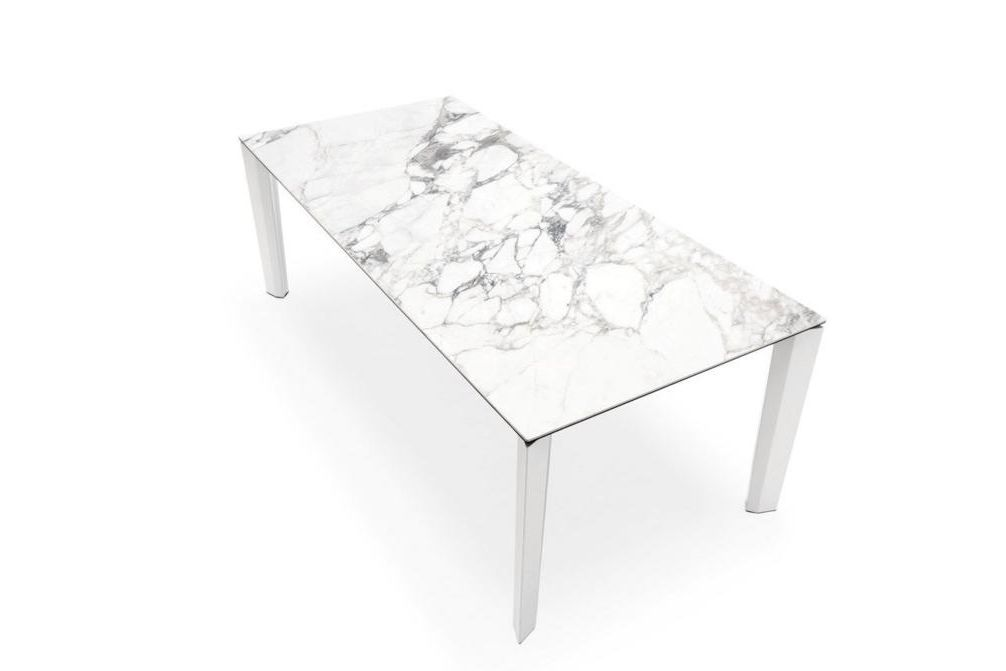 Delta Marble Closed  Delta Dining Table  Marble Top Extension