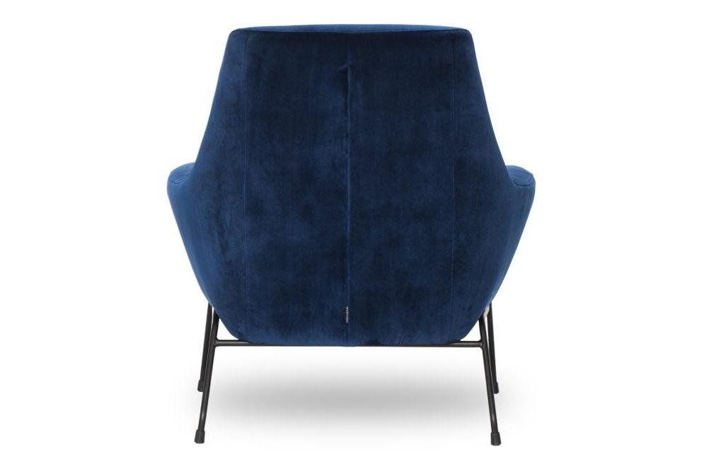Mies Blue Velvet Back  Mies Armchair Blue Velvet