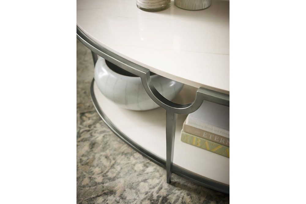 Morello Coffee Table Detail B8967 469RS Detail 1 0  Morello Bernhardt Stone Metal  Morello Bernhardt Stone Metal Console
