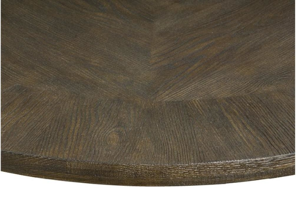 Antiquarian Dining Table Close Up Top  Bernhardt New Product February 2016