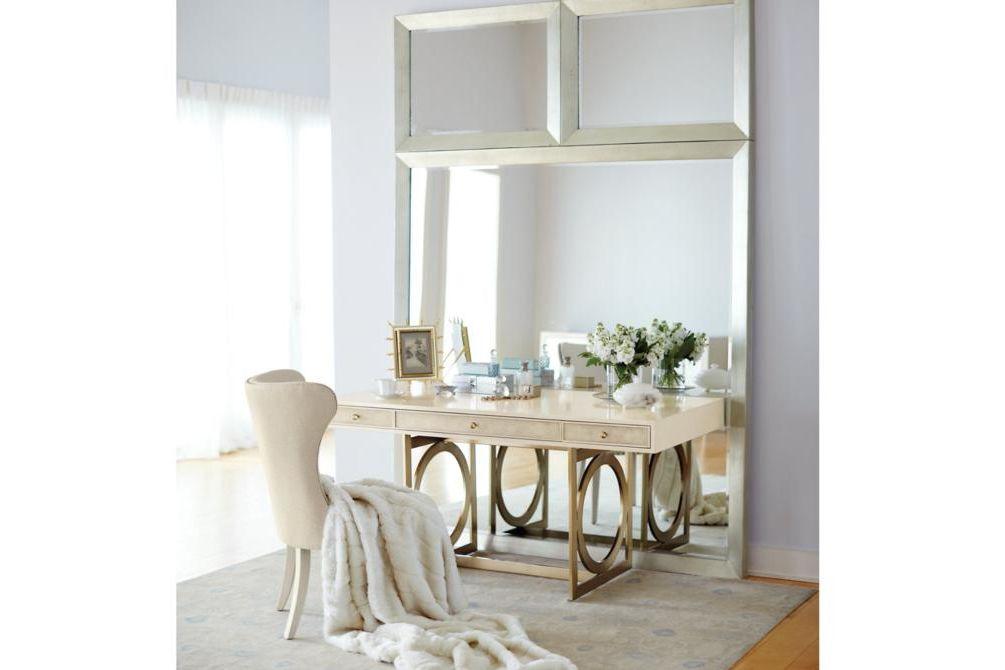Setting Salon Mirror Wing Chair Desk  Bernhardt New Product February 2016