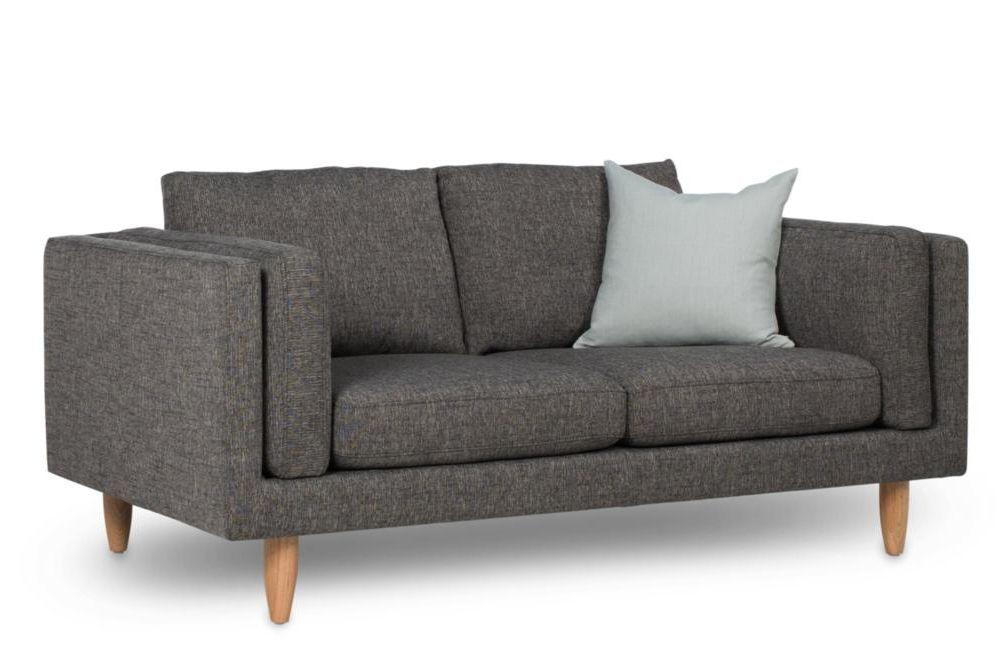 George 2 seater sofa grey light oak leg Angle George 2 seater Sofa