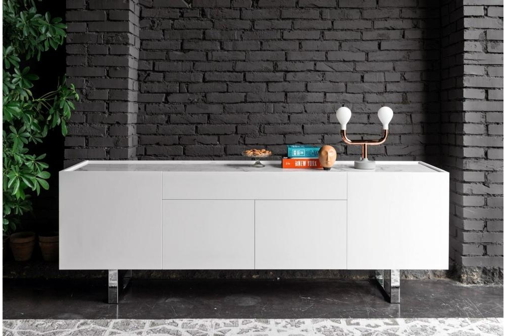 Horizon Buffet Marble Top White Setting Horizon Buffet Options