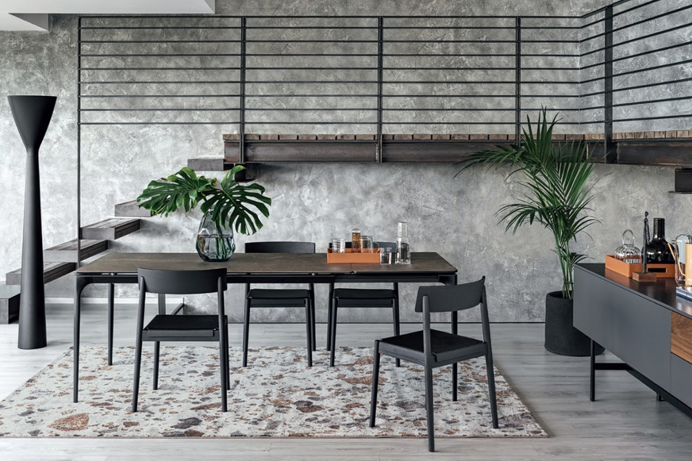 CALLIGARIS SILOUHETTE DINING SMALL TABLE SCENE CALLIGARIS SILOUHETTE DINING SMALL TABLE SCENE.jpg CALLIGARIS DINING EXTENSION TABLES CERAMIC GLASS