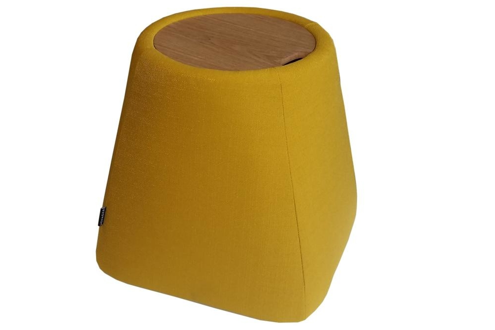hide ottoman yellow Hide ottoman