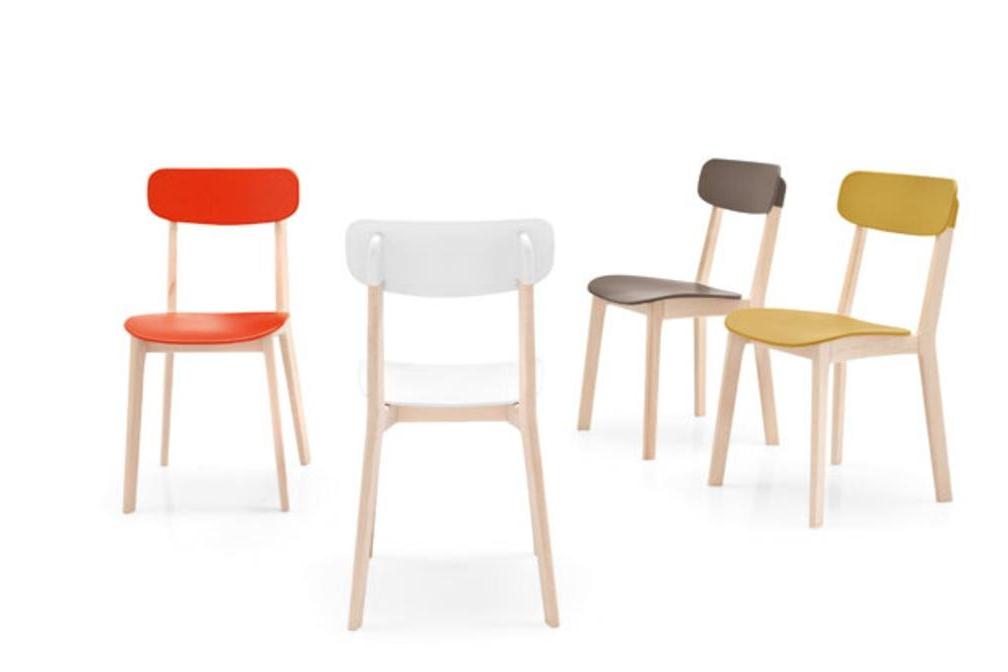 Cream cs1369 col Calligaris Cream Table and Chairs Calligaris, Cream, Table, white, red, natural timber