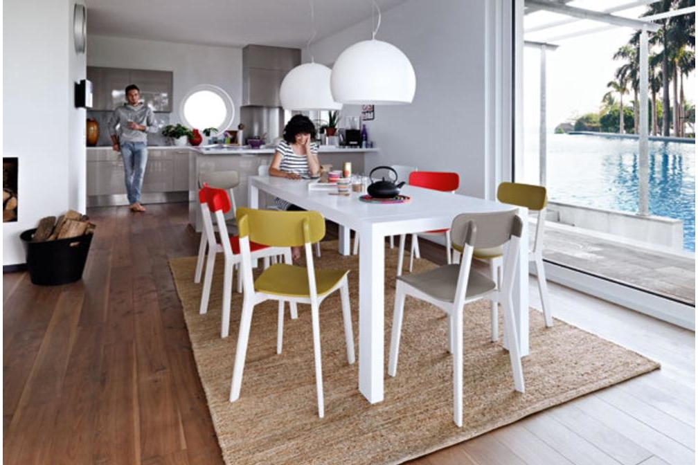 Cream cs391 P64 cs1369 cs8018 S S Calligaris Cream Table and Chairs Calligaris, Cream, Table, white, red, natural timber