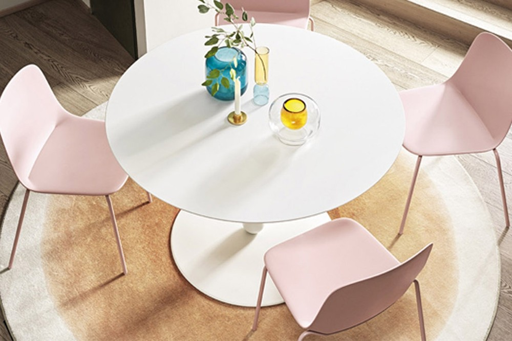 Balance%20table%202.jpg Balance Dining Table_Designed by Pioe Tito Toso_Round_Made in Italy_ By calligaris_Central Cylindrical Column Base_Metal Base_Pedestal base Balance%20table%202.jpg