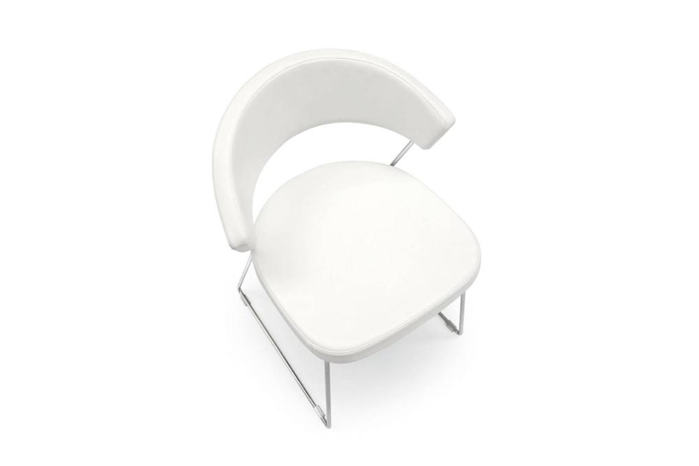new york sled white top New York chairs New York, dining chair, office chair, cantilver, white, black, brown, taupe, sled