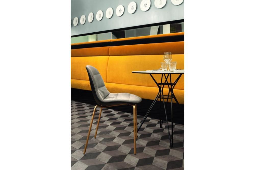 mood 34 09r m325 z005 tlu03 2 mood_34-09r_m325_z005_tlu03_2.jpg Mood Covered 4 Leg Metal Chair by Bontempi Casa