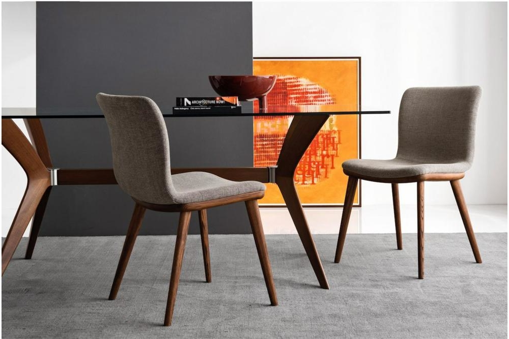 Annie Walnut Fabric Setting Annie and Stockholm Dining Chair Annie, Stockholm Calligaris, Leather, Fabric, Dining chair