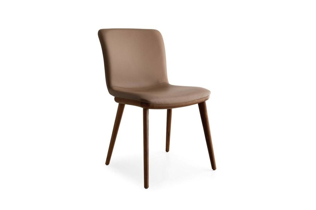 Annie Leather Walnut Angle Annie and Stockholm Dining Chair Annie, Stockholm Calligaris, Leather, Fabric, Dining chair