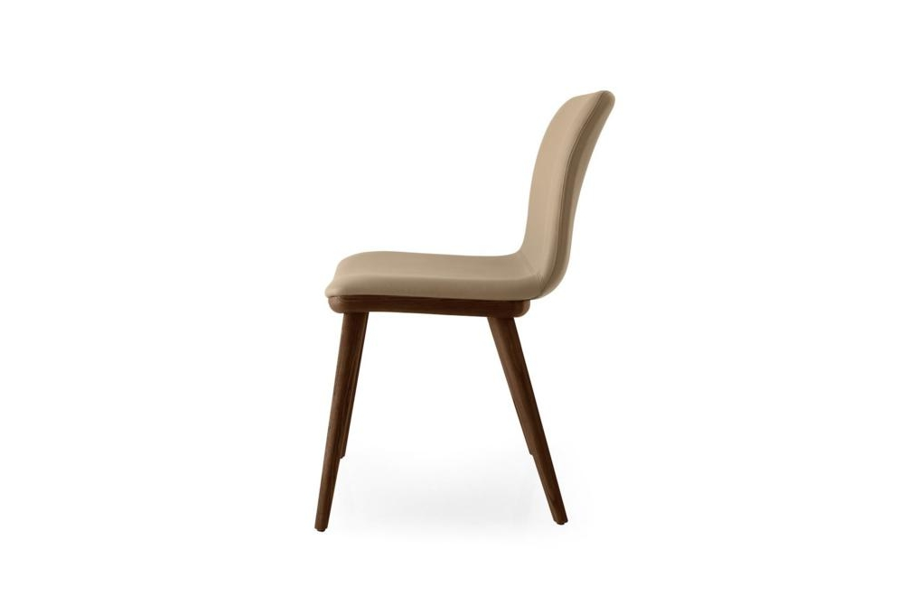 Annie Leather Walnut Side Annie and Stockholm Dining Chair Annie, Stockholm Calligaris, Leather, Fabric, Dining chair