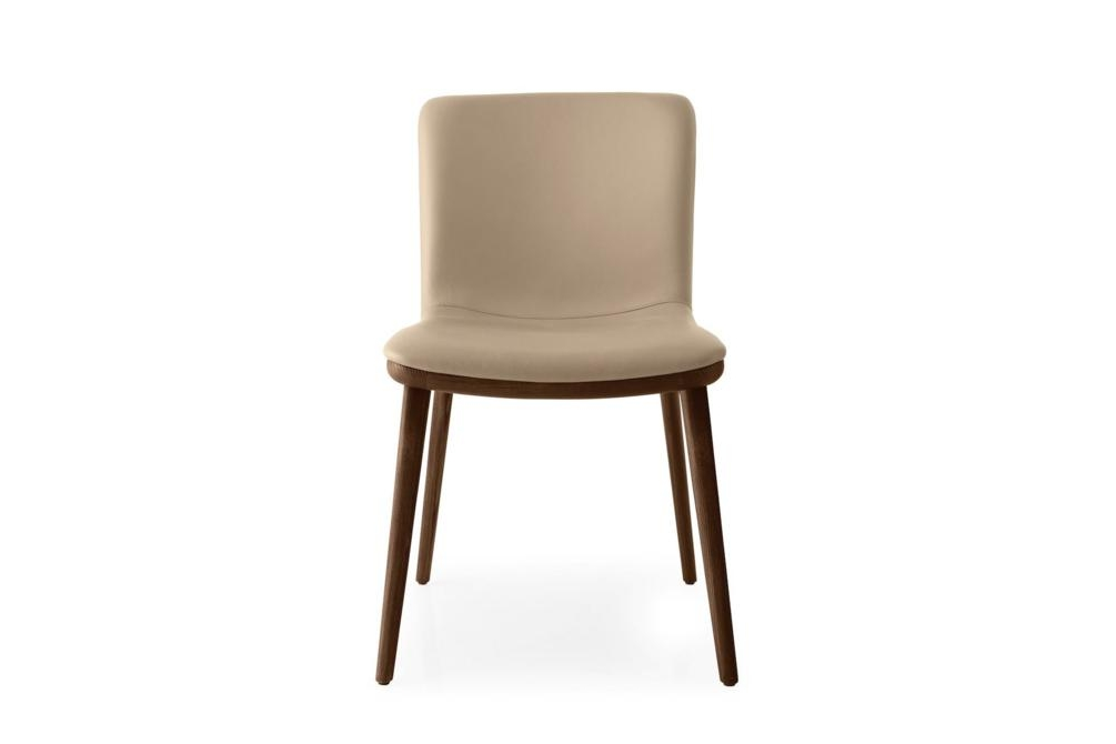 Annie Leather Walnut Annie and Stockholm Dining Chair Annie, Stockholm Calligaris, Leather, Fabric, Dining chair