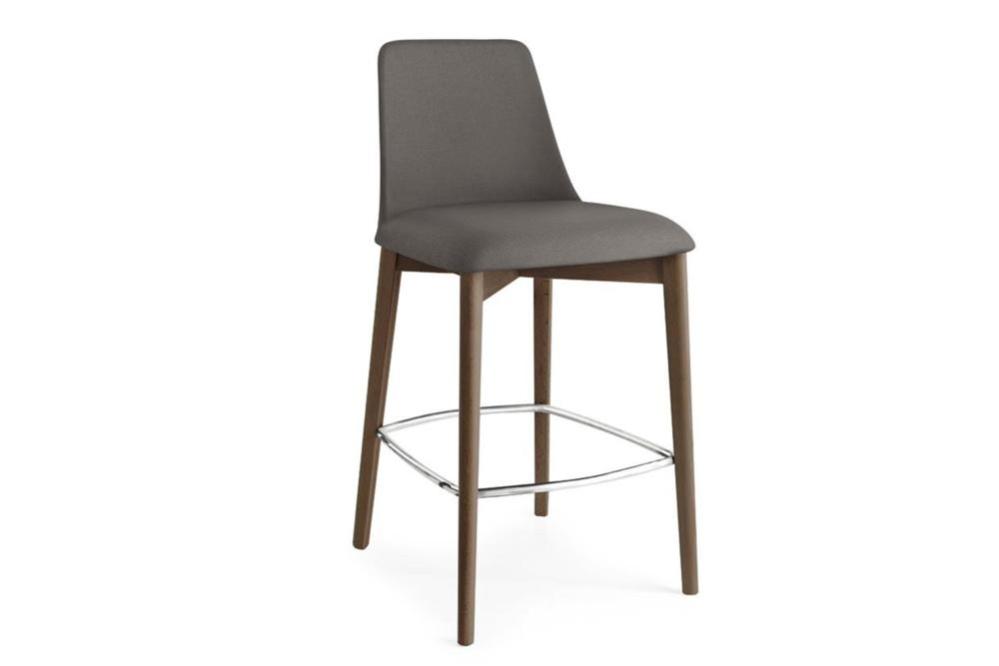 cs 1801 67659 Etoile Stool cs1801 Calligaris Etoile Stool cs1801 Calligaris wood timber leg upholstered seat cold cured foam organic shape