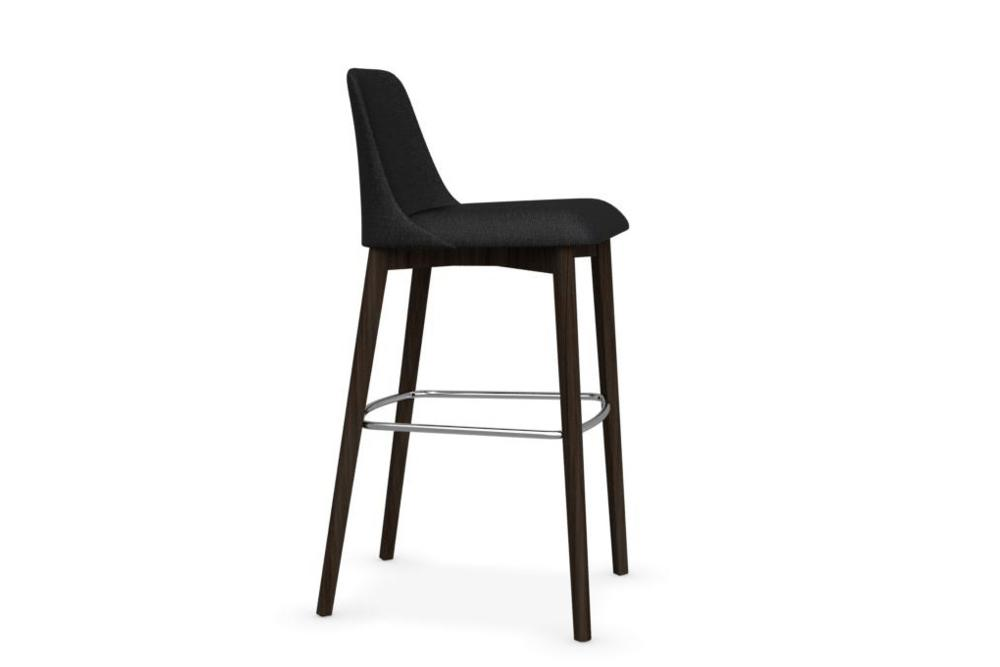 etoile1 Etoile Stool cs1801 Calligaris Etoile Stool cs1801 Calligaris wood timber leg upholstered seat cold cured foam organic shape